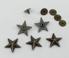 STERNNIETEN Ziernieten SILBERFARBE 100 Stück Nieten 10mm p00kn0068x2