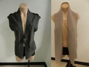 NWT Evelyn Grace Women's Dress Sweater Cardigan Jacket Vest 100% cashmere