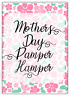 Mothers Day Pamper Hamper Large Stickers Letterbox Postal Sweets Party Bag Cone