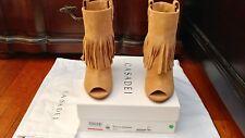 New Casadei Fringe Boots, Tan, 39/9