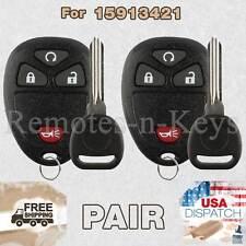 2x Car Transmitter Remote for 2007 2008 2009 2010 2011 2012 2013 GMC Sierra Key