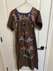 New Authentic Floral Mexican Dress From Mexico - Halloween Costume Size S/M