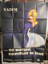 AFFICHE CINEMA VADIM ET SATAN CONDUIT LE BAL