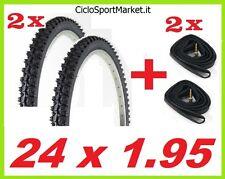 2 x Copertoni + 2 x Camere d'aria ideale bici bicicletta Mountain Bike 24 x 1.95