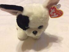 TY Beanie 41203Marcel–Dog White/Black, 15cm, Beanie Babies