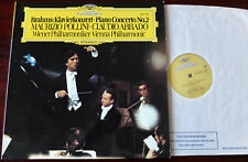 DG 2530 790 BRAHMS PIANO CONC 2 LP POLLINI NM- (1977) ENGLAND