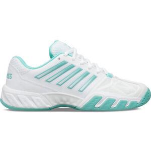 K Swiss Women's Big Shot Light 3 All Court Shoe - White/Aruba Blue