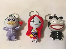 Nightmare Before Christmas Figural Keyring Series 1 Scary Teddy Sally Barrel Lot