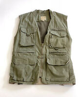 Cabela's Safari Series Vest Mens 2XL Olive Khaki Green Hunting Fishing Outdoors