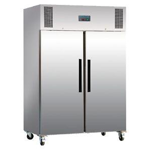 1200 Liter Gefrierschrank Polar Tiefkühlschrank 2 Türig Edelstahl - Gastronomie