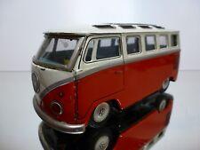 JAPAN TIN TOY BANDAI? VW VOLKSWAGEN T1 SAMBA BUS FRICTION L17.0cm RARE - GOOD