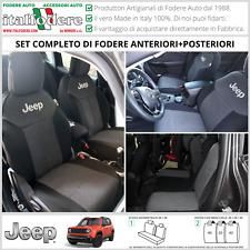 FODERE COPRISEDILI Jeep Renegade SU MISURA! Fodera Foderine COMPLETE Grigio 37