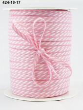 """424-18-33 Brown 1//8/"""" Solid//Diagonal Stripes Ribbon May Arts 5 Yds."""