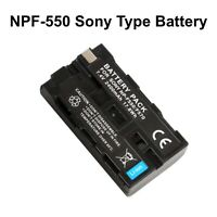 NP-F550 Sony Type Rechargeable Camera Battery for Sony NP F970 F750 F770 + More