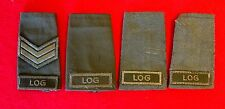 Vintage Canadian Army Epaulettes Lot of 4 Logistics Green on Green knu1