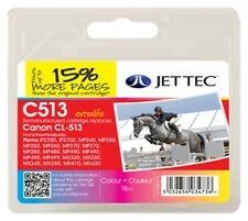 Jet Tec CL513 Color Cartucho de Tinta Compatible con Impresoras Canon Remanufactured