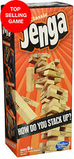 Jenga Classic Game by Hasbro Stacking Wooden Tumble Block Wood Tower MP
