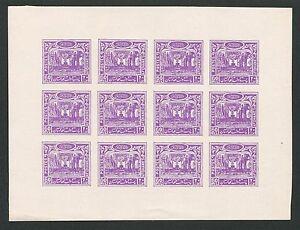 AFGHANISTAN 1932 NATIONAL ASSEMBLY SHEET IMPERF!! NON DENTELE!! RARE!! d4233