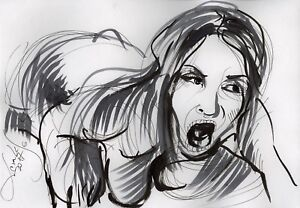 Original Nude Erotik Figure Drawing Picture(30x21)cm1130 DE  act erotic
