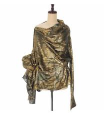 MAISON MARGIELA Gold Metallic Avant Garde Wrap Ruffle Top *NWT* - UK 8