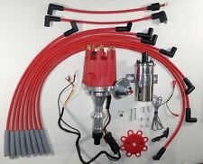 small cap PONTIAC 389-400-455 PRO SERIES Red HEI Distributor +Chrome Coil +Wires