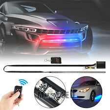 7 Color 48 LED RGB Knight Rider Scanner Flash Car Strobe Strip Light Kit 22 Inch