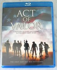 ACT OF VALOR BLU-RAY DISC Featuring Active Duty Navy Seals - FREE SHIPPING