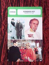 FERNANDO REY -  MOVIE STAR - FILM TRADE CARD - FRENCH - #2