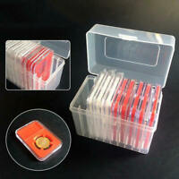 Plastic Storage Box / Case for 10 Certified Graded PCGS NGC Slab Coin Holder fs