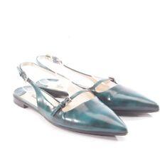 PRADA Ballerinas Gr. D 37 Grün Damen Schuhe Shoes Flats Loafer Halbschuhe