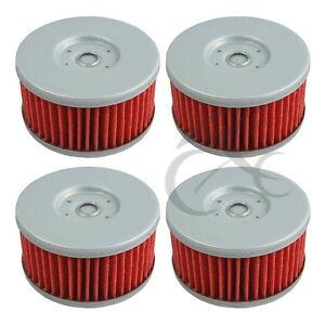 4 PCS Oil Filters For Suzuki VL250 GN250 GZ250 DR250 DR350  SG350 DR400 TU250