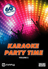 PARTY TIME VOL 5 SUNFLY KARAOKE DVD - 60 HIT SONGS