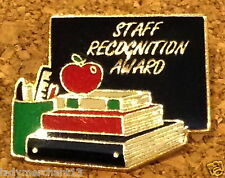 """""""STAFF RECOGNITION AWARD"""" Enamel Lapel Pins/Lot of 17 New Line!"""