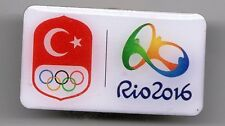 RIO 2016. OLYMPIC GAMES. NOC PIN. TURKEY. RECTANGULAR