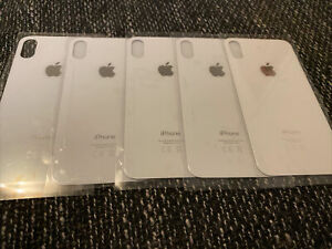 iPhone X Akkudeckel Backcover Cover Rückseite aus Glas Weiß BIG HOLE