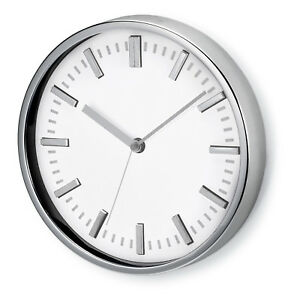 Wall clock tic-toc system LARGE ANALOGUE Modern ROUND Kitchen OFFICE WHITE