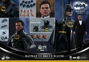 Hot Toys MMS294 1:6 Batman Returns Bruce Wayne Figure Set NM Gorgeous! 2015