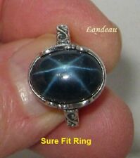 9.19 ct  Star Sapphire Adjustable Silver Ring