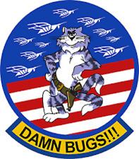Us Navy F-14 Tomcat Damn Bugs Sticker