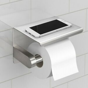 Toilet Tissue Holder Roll Papers Stand Dispensers Wall Mounted Silver Home UK