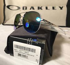 Oakley Elmont L Aviator sunglass OO4119-0760 Satin Frame w Sapphire polarized