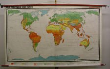 Schulwandkarte Wandkarte wall map Erde Earth Monde climate 18Mio 202x123cm 1978