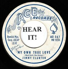 Jimmy Clanton TEEN 45 (Ace 567) My Own True Love/Little Boy in Love