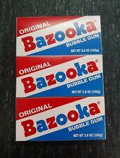 (3) 3.6oz Packs of Bazooka Original Bubble Gum Bazooka Joe comic strip candy