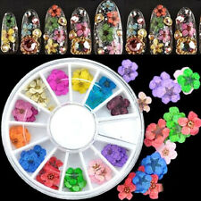 CHARM 36PCS 3D REAL DRIED FLOWER DECOR FOR UV GEL ACRYLIC DIY NAIL ART TIPS