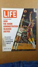 "1972 March 24 LIFE magazine, "" KAREEM vs WILT "" Nixon Blocks Justice"