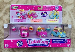 Shopkins Cutie Cars Die Cast Body - Dessert Drivers Collection - New and Sealed