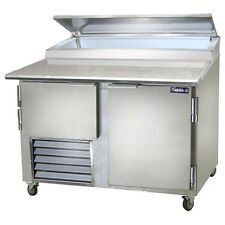 Leader Pt48, 48x36x43-Inch Refrigerated Pizza Preparation Table, 15.2 Cu. Ft, Se