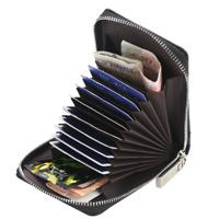 Men's Zipper Short Leather Wallet Credit Card Holder Pocket Purse Clutch Male