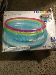 """Intex JumpOLene Inflatable Bouncer 80"""" x 27"""" for Ages 3-6 New Open Box"""